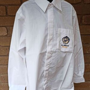 Al Siraat Uniforms 2 - Boys Long Sleeve White Shirt