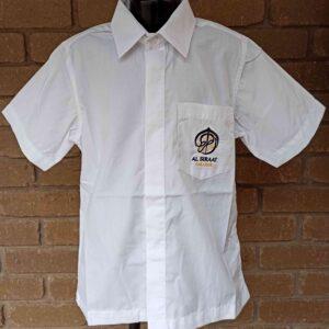 Al Siraat Uniforms 2 - Boys Short Sleeve White Shirt