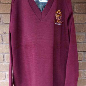 Al Siraat Uniforms 3 - Secondary Girls Maroon Woollen Jumper